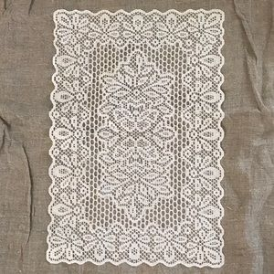 Other - 4 white color lace, crochet placemats